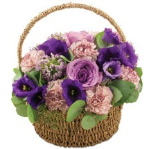 Classic Lilac Flower Basket