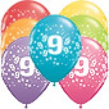 9th Birthday Stars Balloons