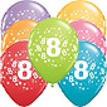 8th Birthday Stars Balloons