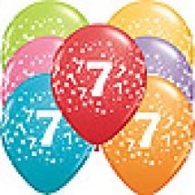 7th Birthday Stars Balloons