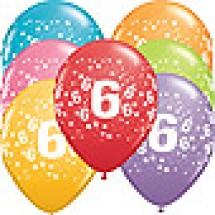 6th Birthday Stars Balloons