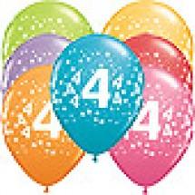 4th Birthday Stars Balloons