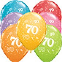 70th A-Round Birthday Balloons