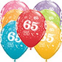 65th A-Round Birthday Balloons