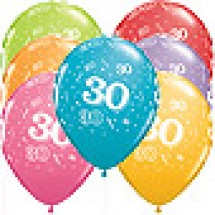 30th A-Round Birthday Balloons