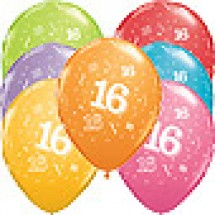 16th A-Round Birthday Balloons