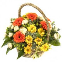 Gerbera Flower Basket