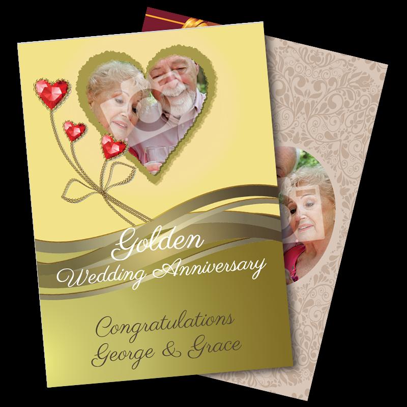 50th Wedding Anniversary - Golden
