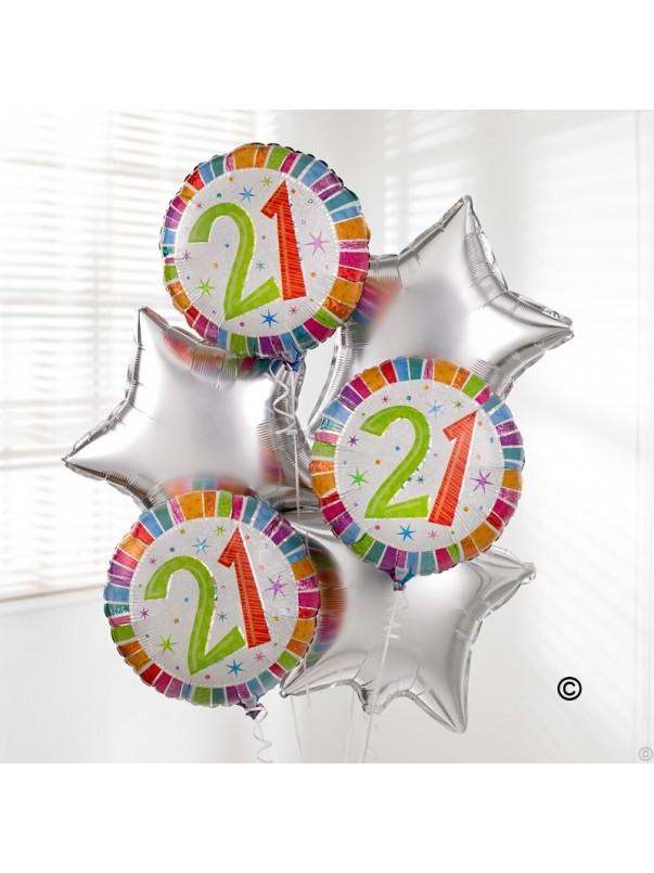 21st Special Birthday Balloon Bouquet