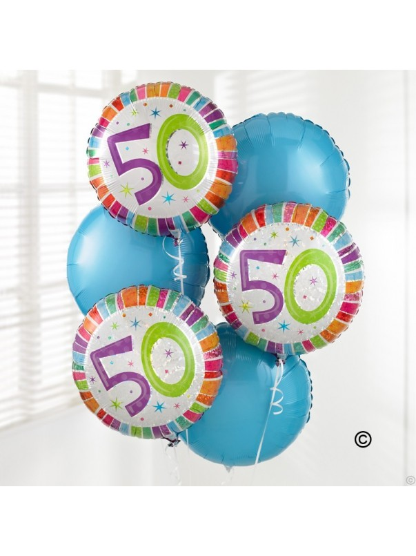 50th Special Birthday Balloon Bouquet