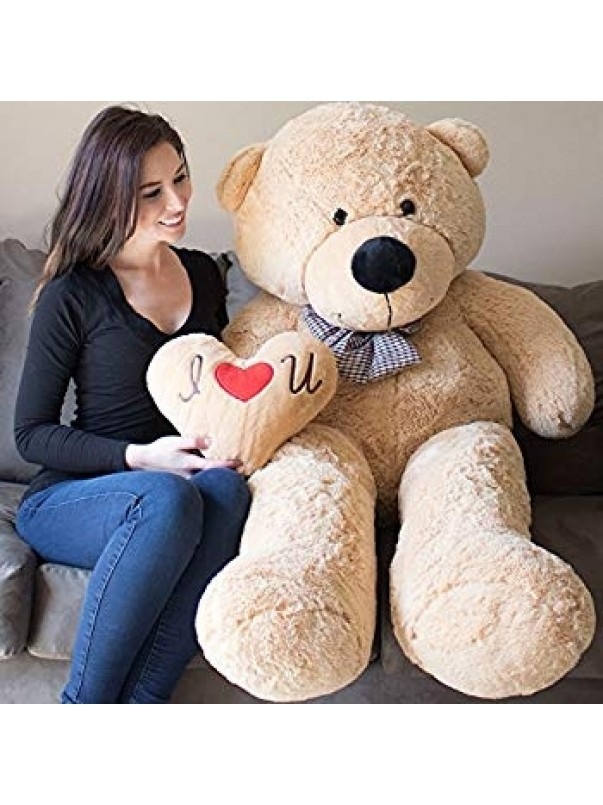 Giant Teddy Bear 5 Feet Tan Color Ultra-Soft