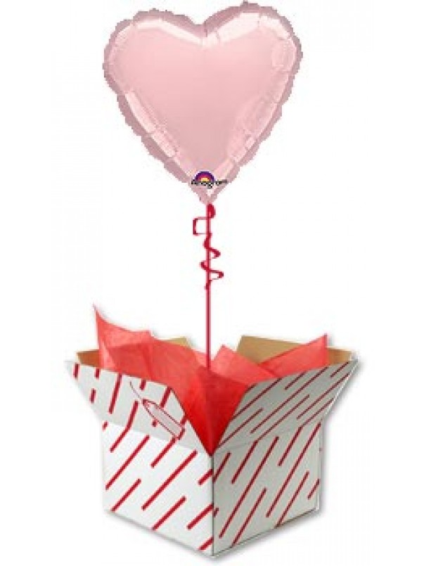 Pink Heart Shaped Helium Balloon