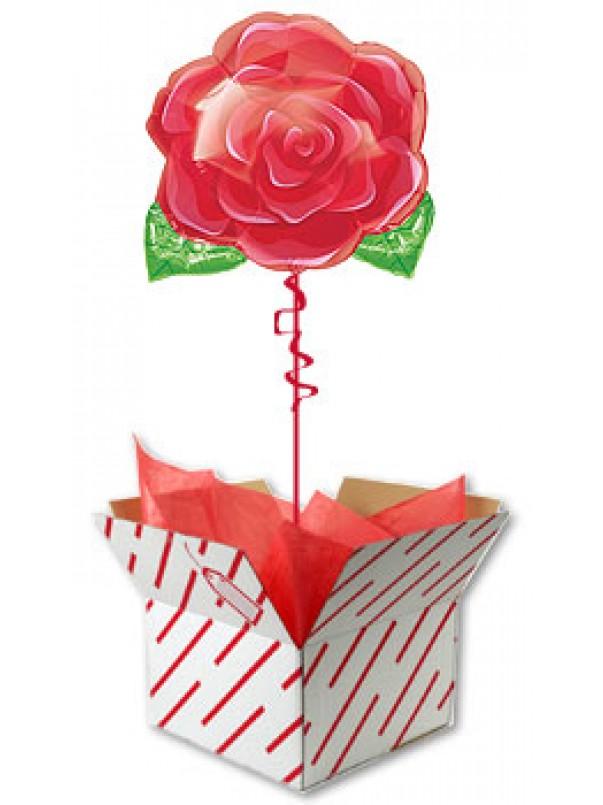 Red Rose Balloon - Flower balloon gift