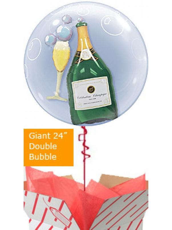 Champagne Bottle Bubble Balloon