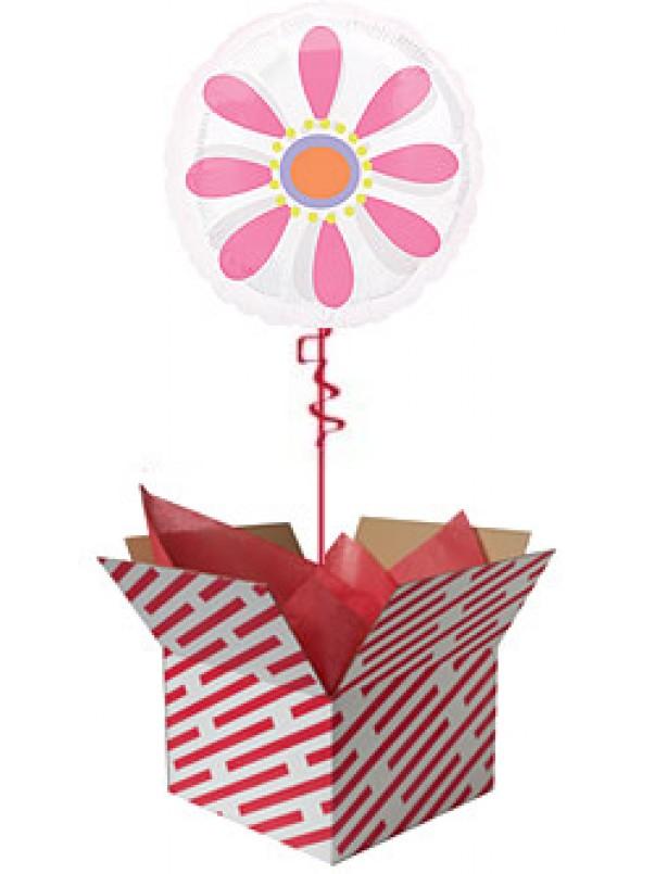 Pink Daisy Helium Balloon