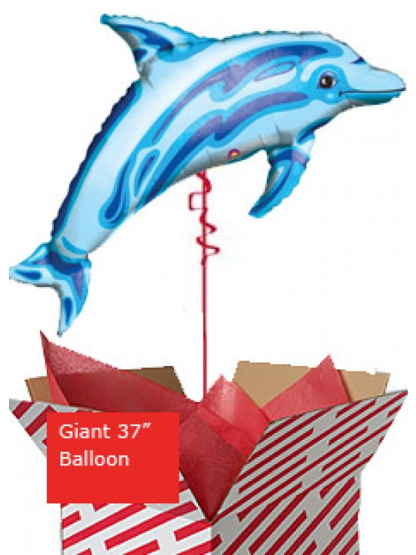 Giant Ocean Blue Dolphin Balloon
