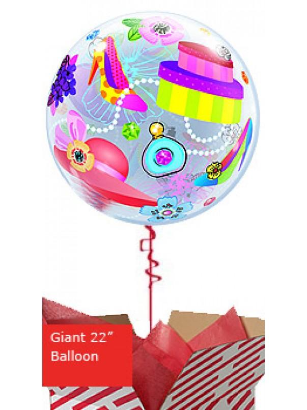 Large Shopping Spree Bubbles Balloon