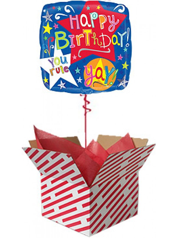 Birthday Stars Balloon Gift
