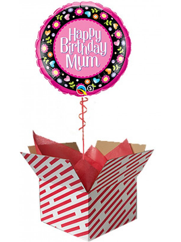 Happy Birthday Mum Pink Balloon Gift
