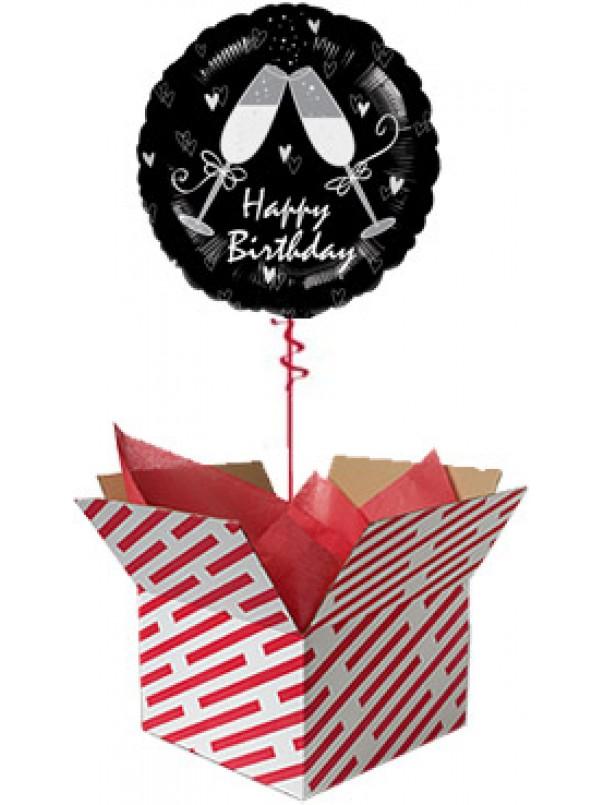 Happy Birthday Toast Balloon Gift