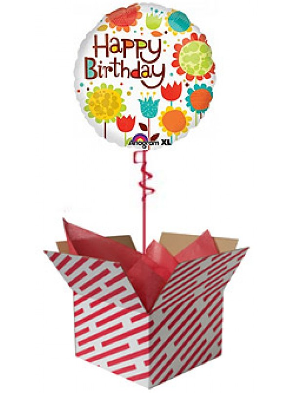 Cheery Flowers Birthday Balloon
