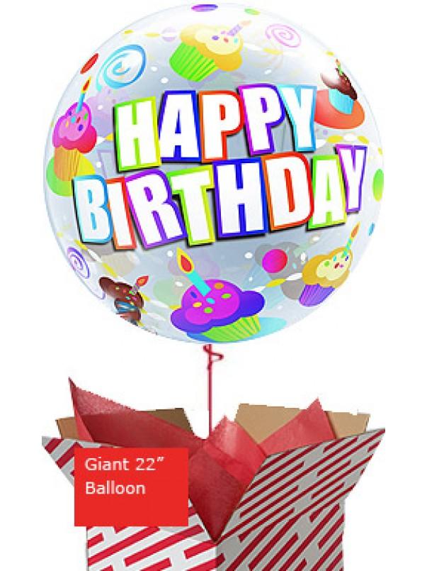 Large Birthday Colourful Cupcakes Balloon