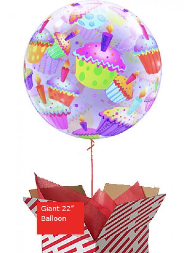 Large Cupcakes Birthday Bubble Balloon