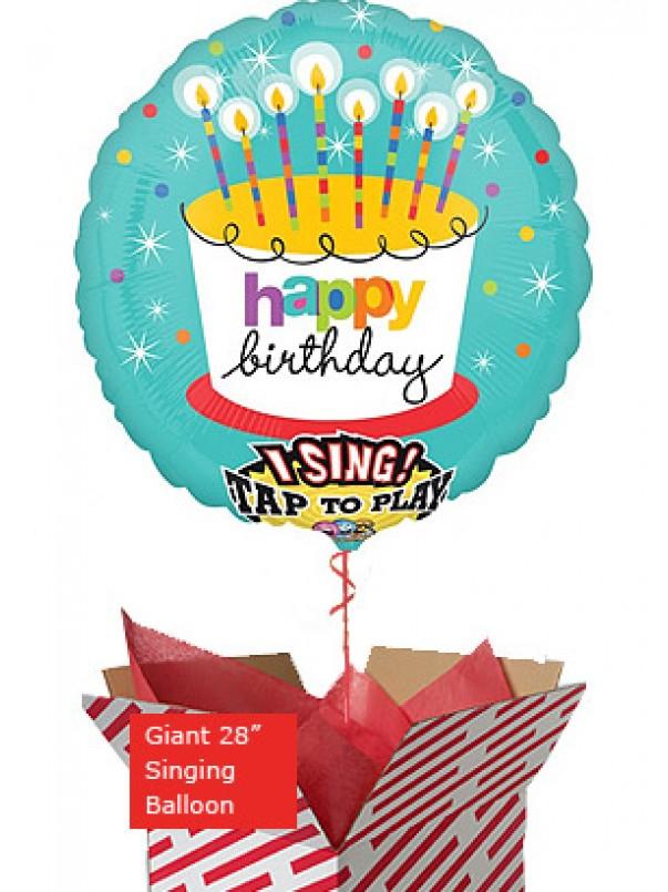 Jumbo Birthday Candles Singing Balloon