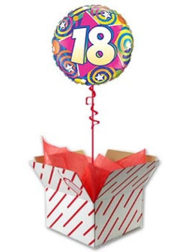 18th Birthday Stars and Swirls Balloon