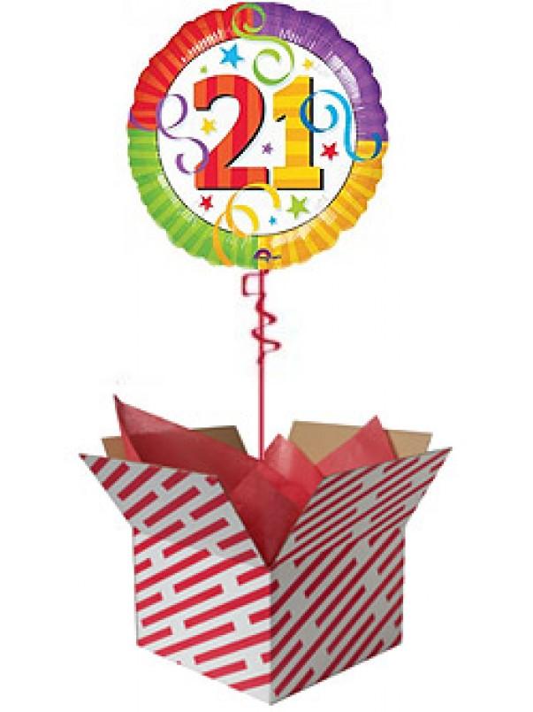 Perfection 21 Birthday Balloon