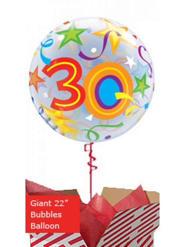 Large 30th Birthday Brilliant Stars Balloon