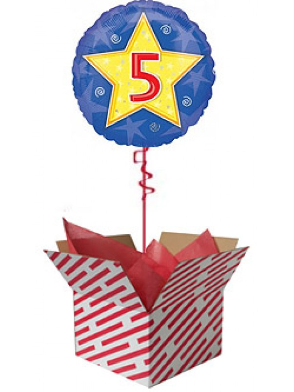 Stars and Swirls 5th Birthday Balloon