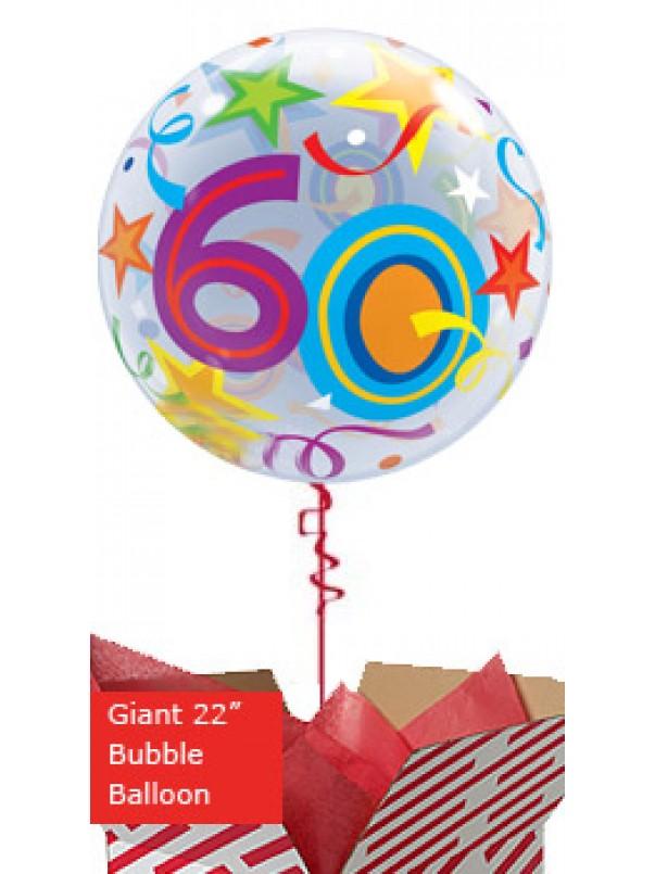 Large 60th Birthday Brilliant Stars Balloon