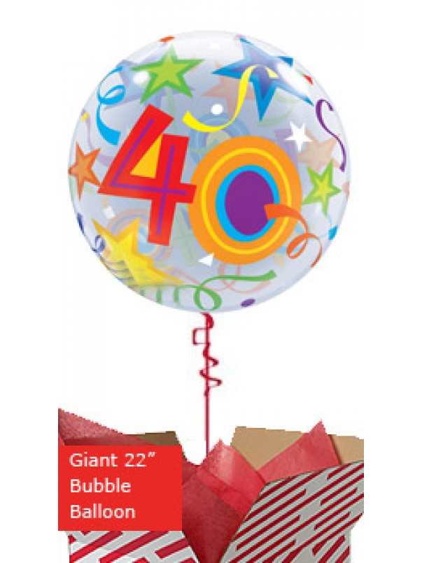 Large 40th Birthday Brilliant Stars Balloon