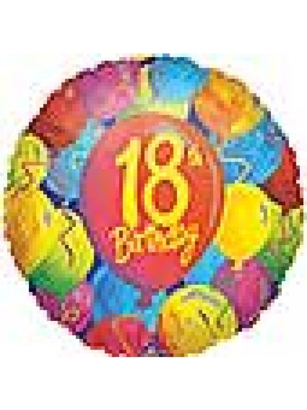 Painted Balloons - 18th Birthday
