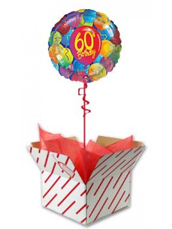 Painted Balloons - 60th Birthday