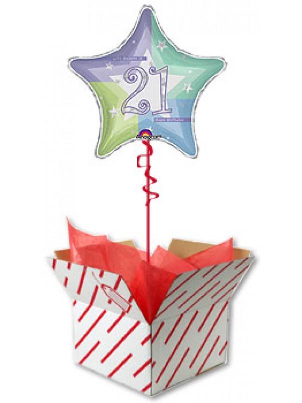 21st Birthday Shimmering Star Balloon