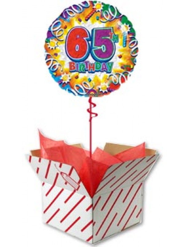 65th Birthday Explosion Balloon