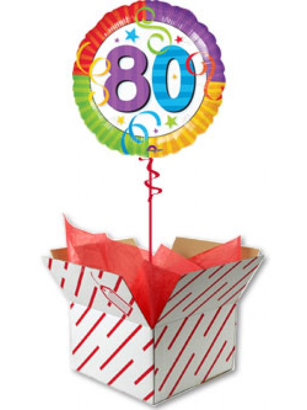 80th Perfection Birthday Balloon Gift