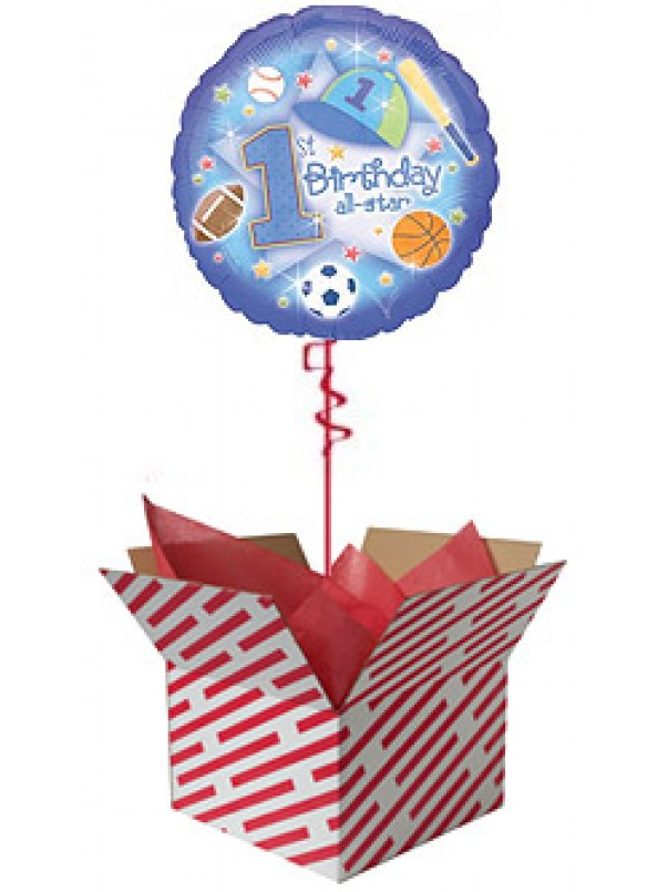 First Birthday All Star Balloon Gift