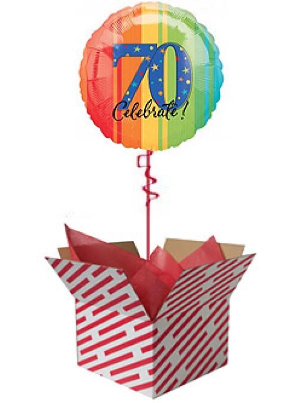 Celebrate 70th Birthday Balloon