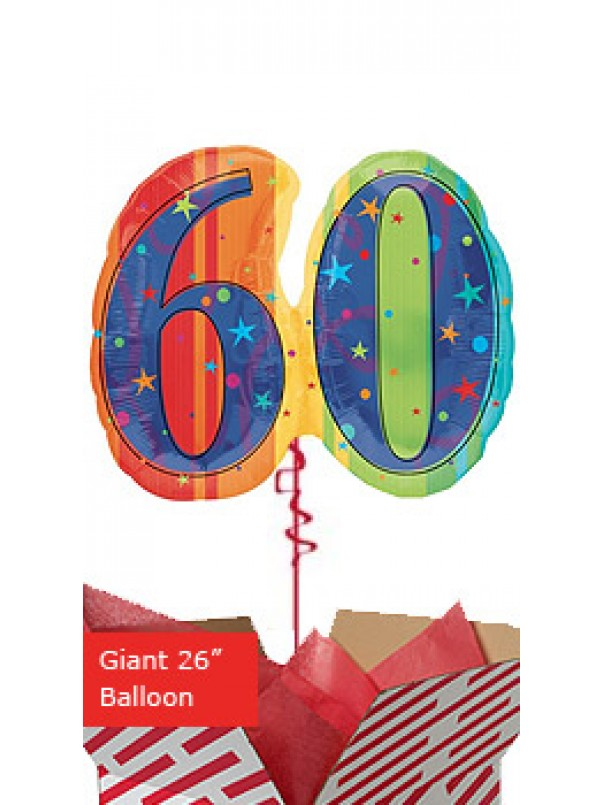 Giant Celebrate 60th Birthday Balloon