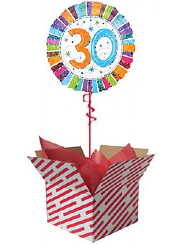 Radiant 30th Birthday Balloon Gift