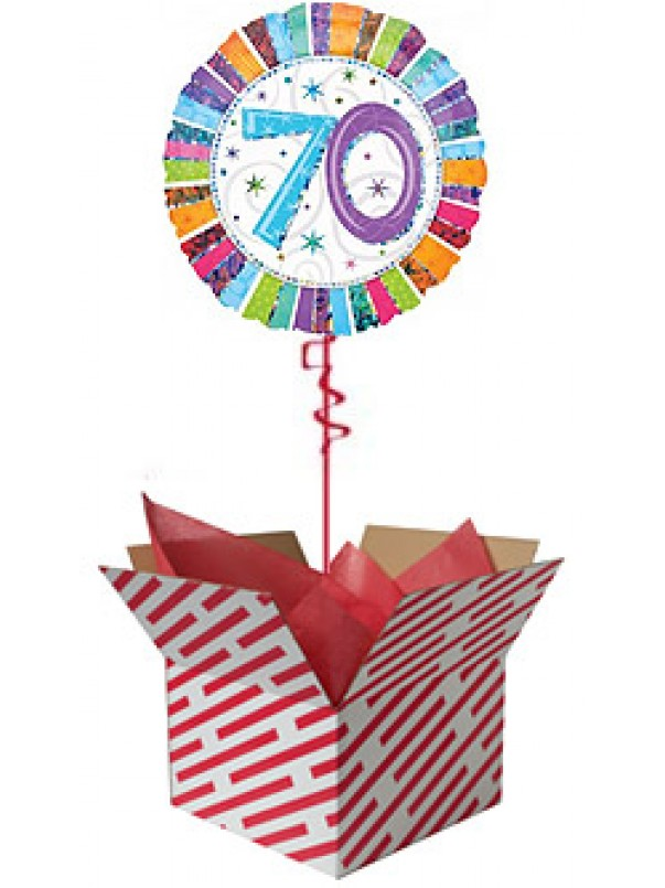 70th Radiant Birthday Balloon Gift