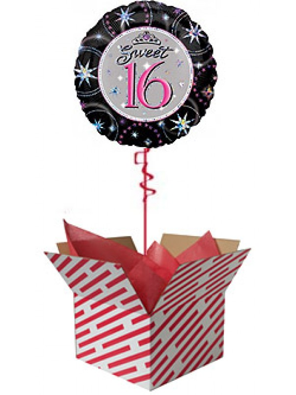 Sweet 16 Sparkle Birthday Balloon