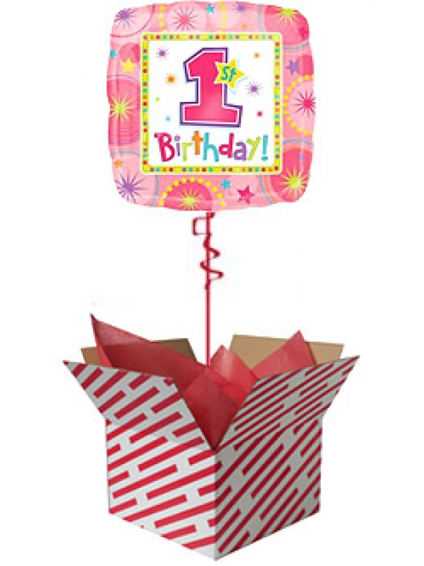 Baby Girl 1st Birthday Balloon