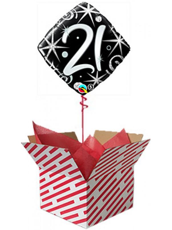 21 Elegant Sparkles Birthday Balloon