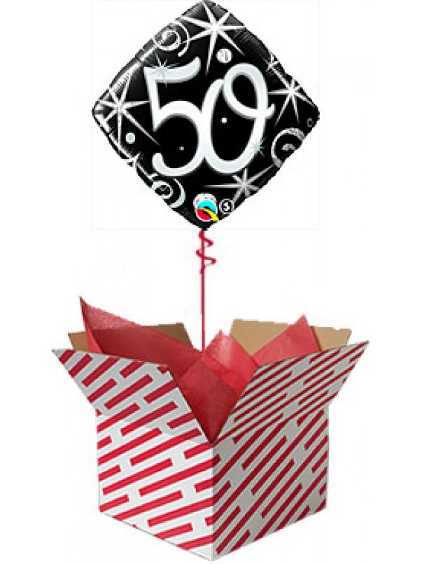 50 Elegant Sparkles Birthday Balloon