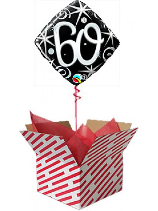 60 Elegant Sparkles Birthday Balloon