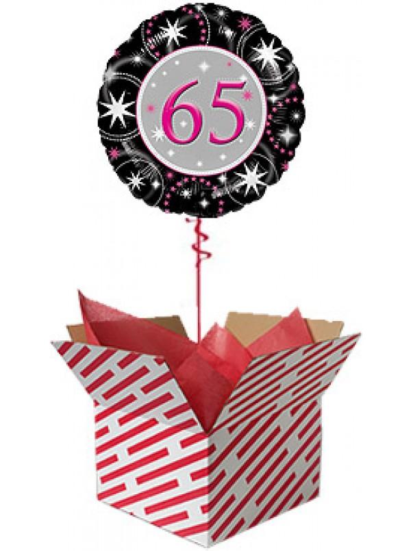 65th Birthday Sparkle Balloon